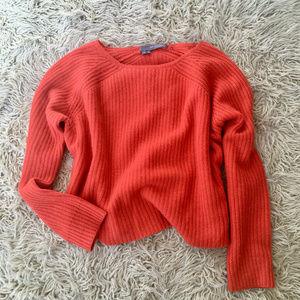 360 Cashmere Scotti Cashmere Sweater Orange Red M